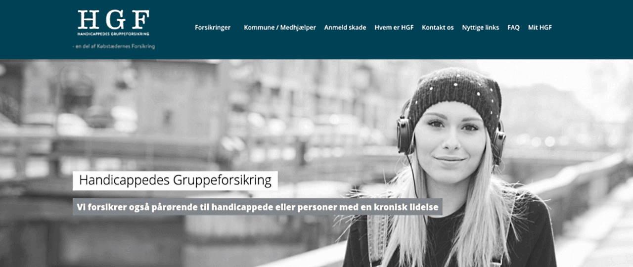 HGF forsikring screenshot